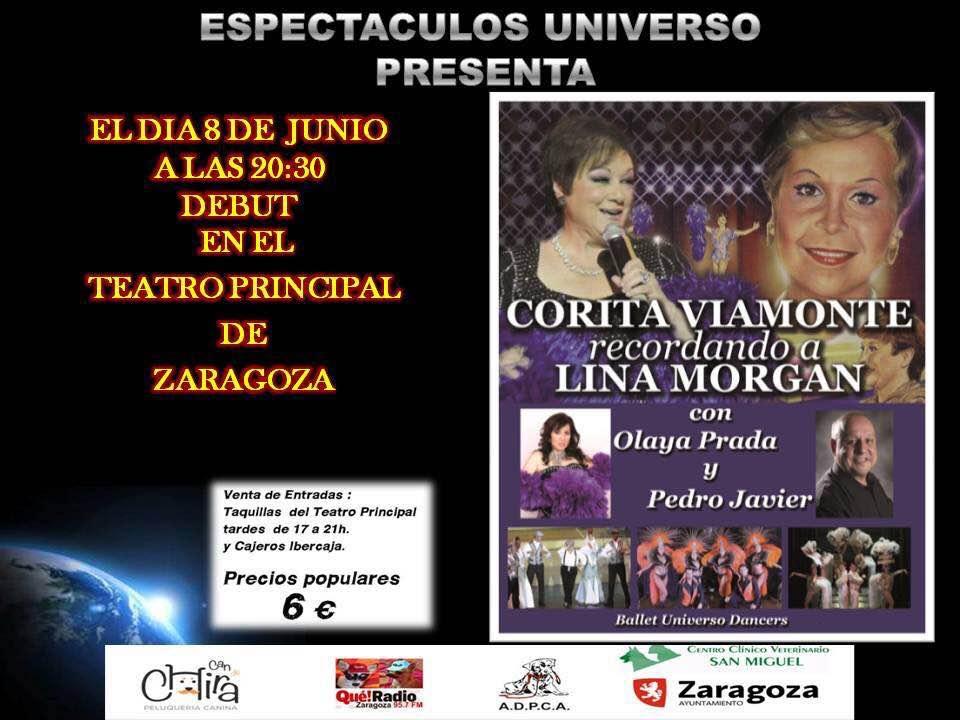 Corita Viamonte en el teatro principal de zaragoza